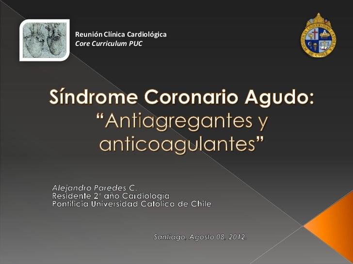 Reunión Clínica CardiológicaCore Curriculum PUC