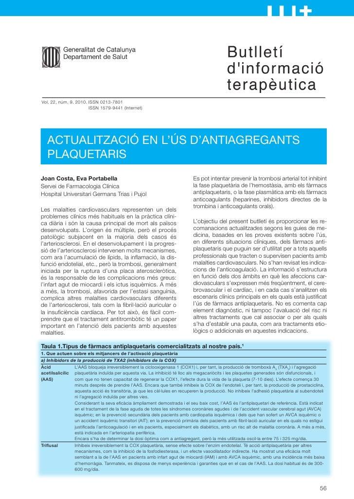Antiagregants
