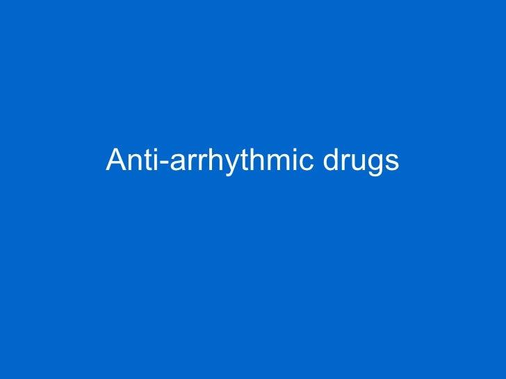 Antiarrythmics