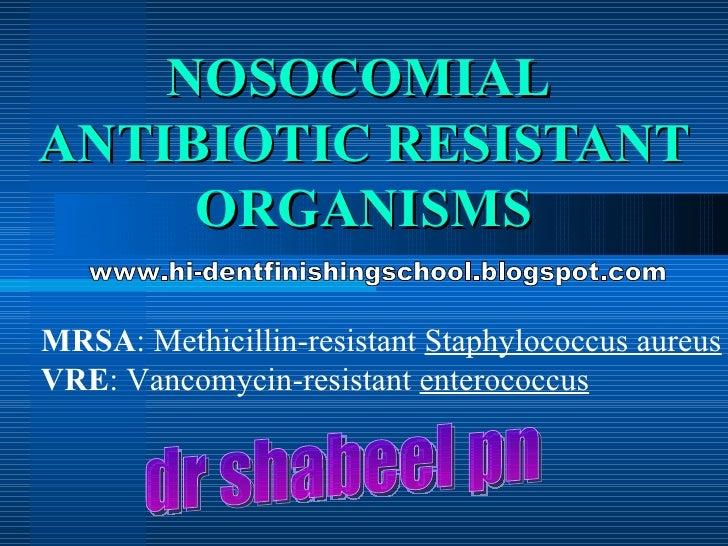 Antibiotic Resistanace