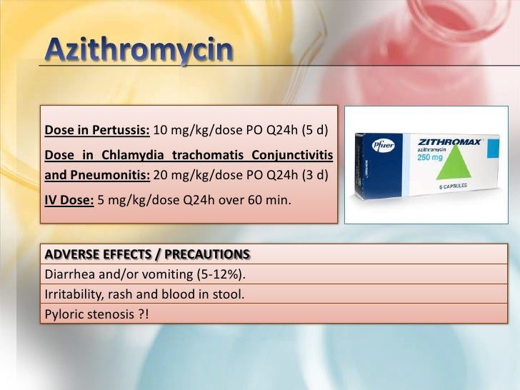 Pertussis And Zithromax