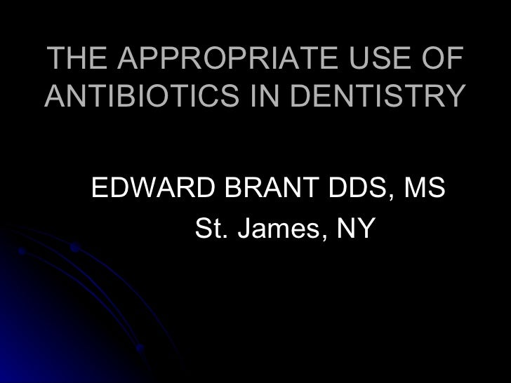 """Long Island Periodontist presents """"Appropriate Use of Antibiotics In Dentistry"""""""