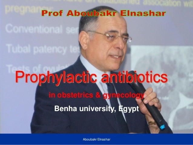 in obstetrics & gynecology Benha university, Egypt Aboubakr Elnashar