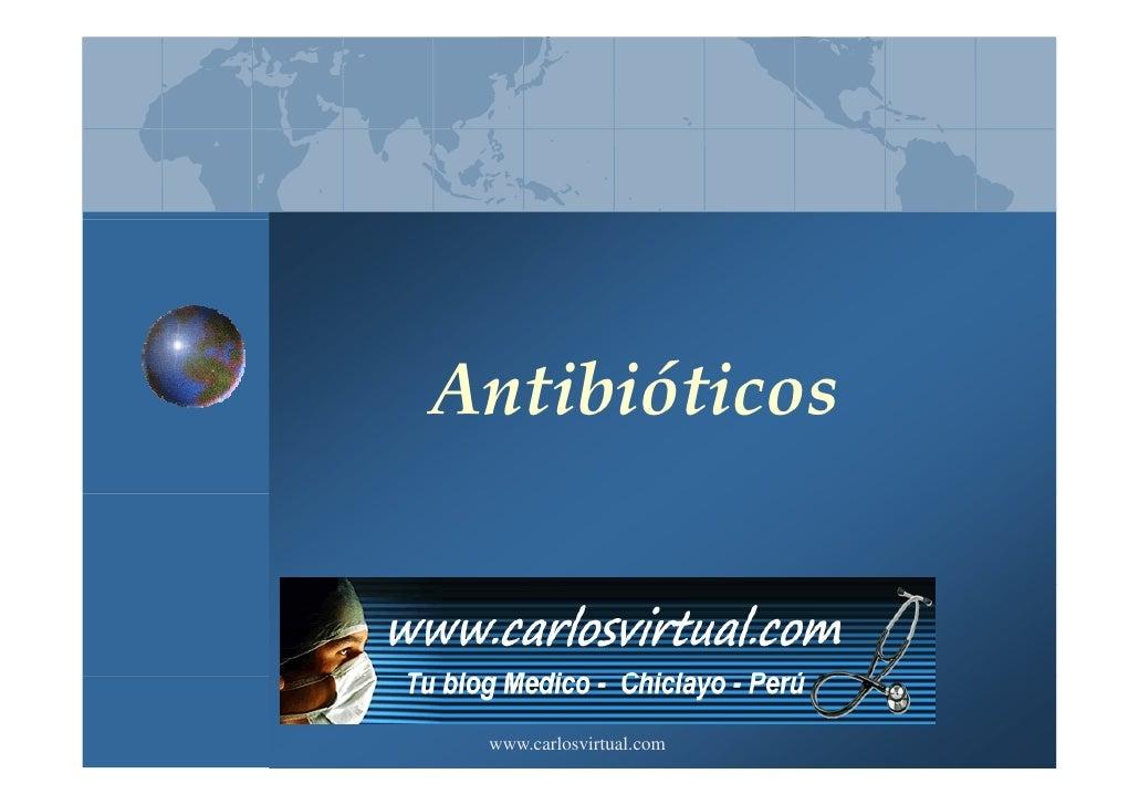 Antibióticos www.carlosvirtual.com