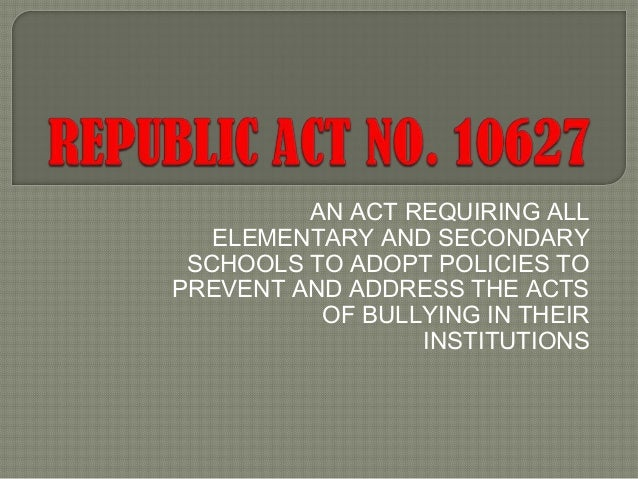 Anti bullying Philippines