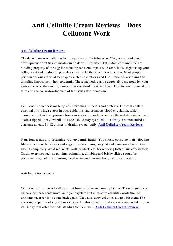 Anti Cellulite Massage Cream Anti Cellulite Cream Reviews