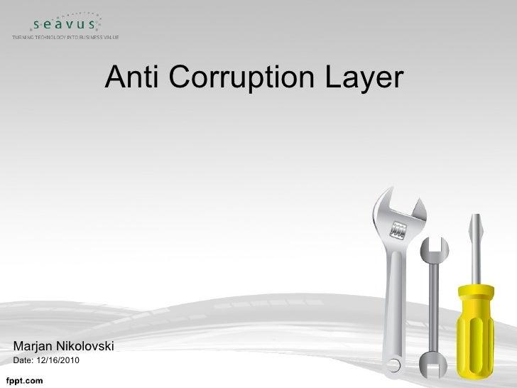 Anti Corruption Layers