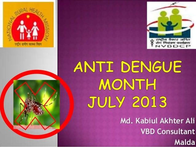 Md. Kabiul Akhter Ali VBD Consultant Malda