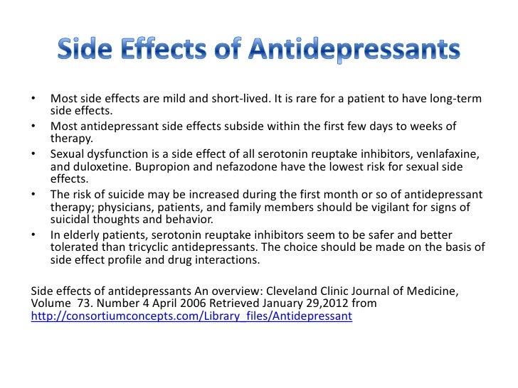 Wellbutrin Sr Side Effects Long Term