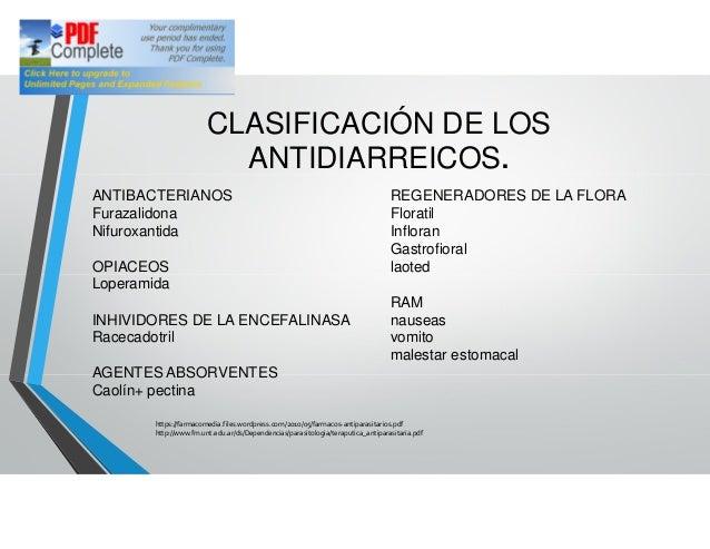 Antidiarreicos farmacos