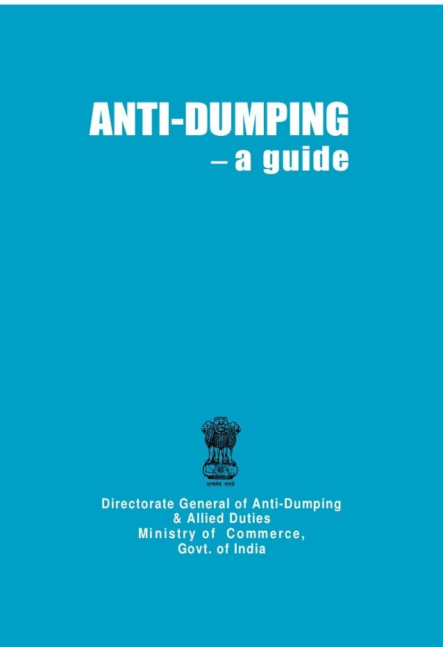 Anti dumping Rules