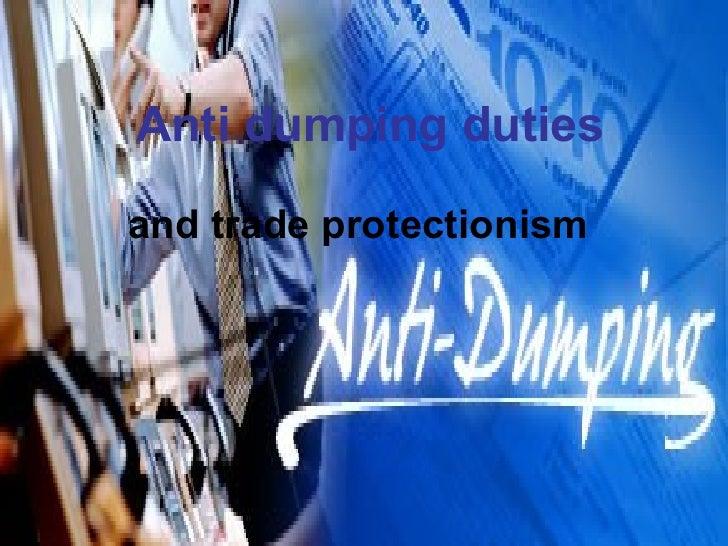 Anti dumping duties