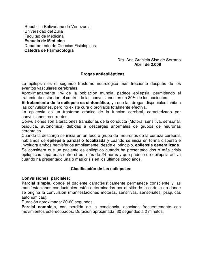 República Bolivariana de Venezuela Universidad del Zulia Facultad de Medicina Escuela de Medicina Departamento de Ciencias...