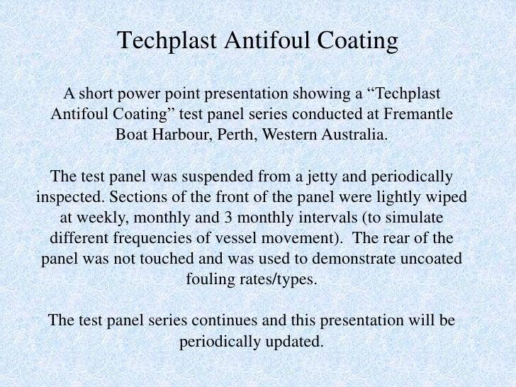 Antifoul Tests