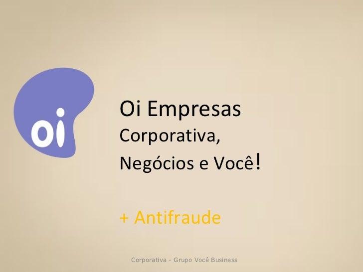 Antifraude - Corporativa