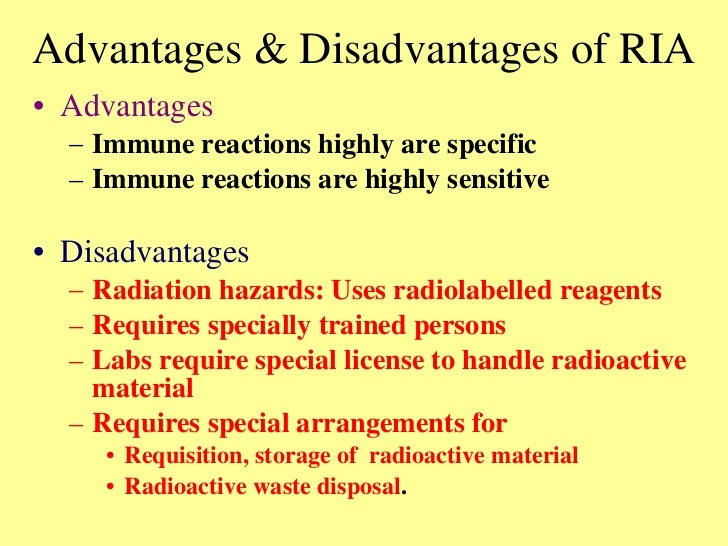 What are the benefits and disadvantages of radiometric hookup