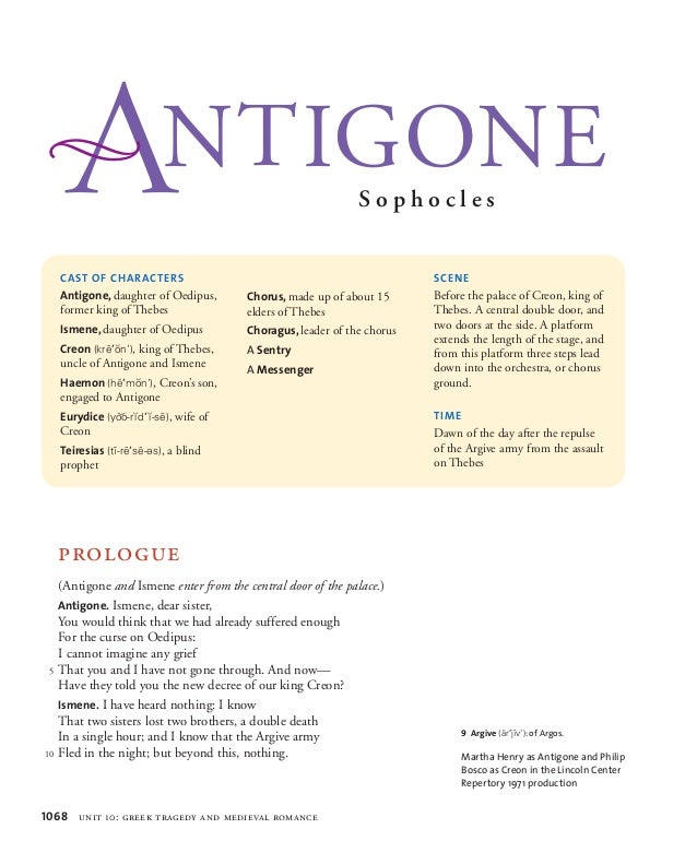 compare portrayal creon oedipus king and antigone Answer key short answer study guide questions - antigone  the brother-in-law of the previous king, oedipus  sentry brought antigone, the king's niece, to creon.