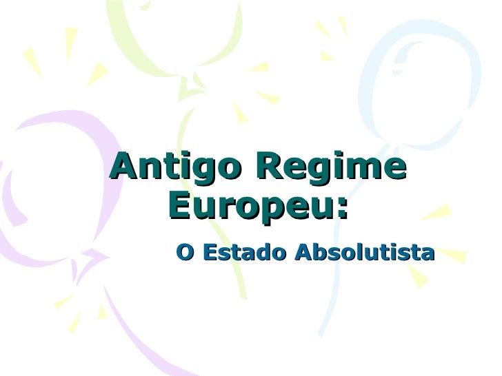Antigo regime   cap. 19