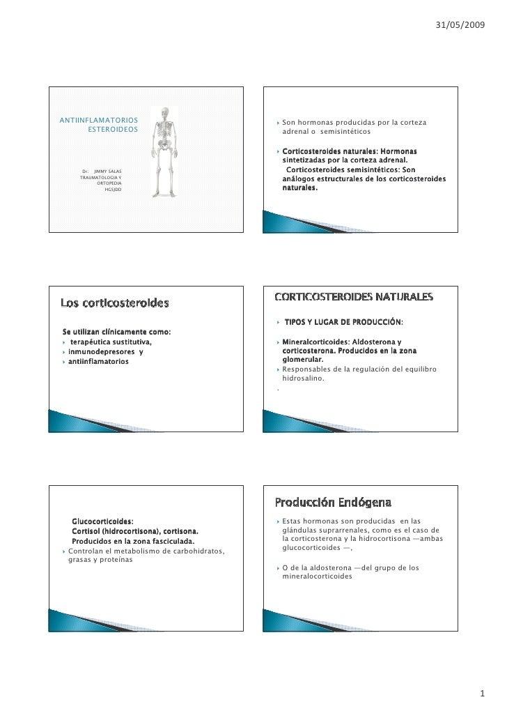 Antiinflamatoriosesteroideos