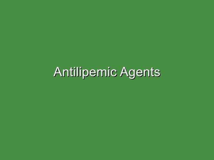 Antilipemics