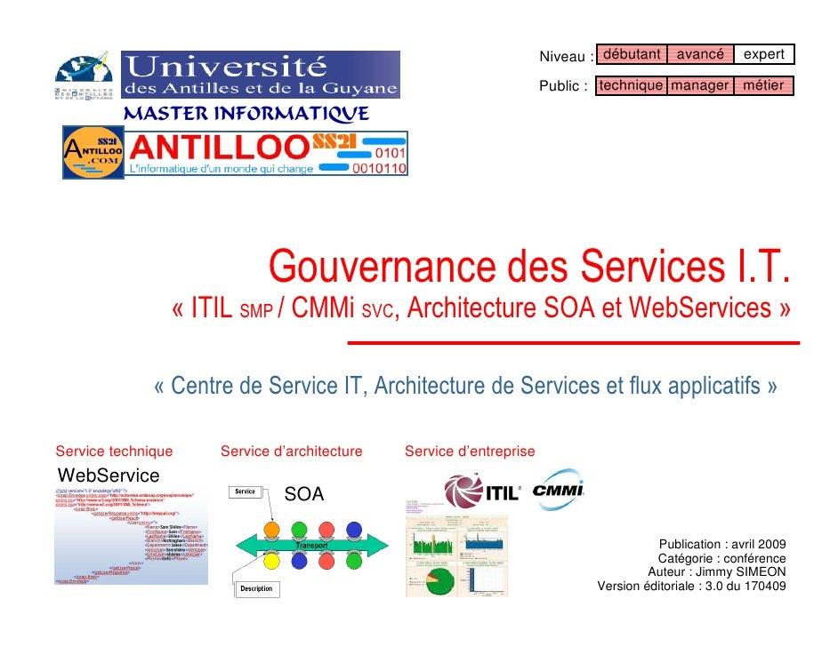 La Gouvernance des Services Informatiques