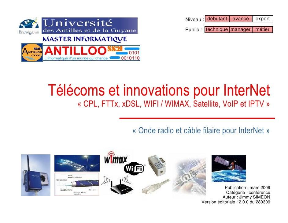 Télécoms et innovations InterNet