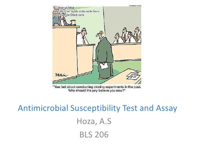 Antimicrobial susceptibility test and assay bls 206