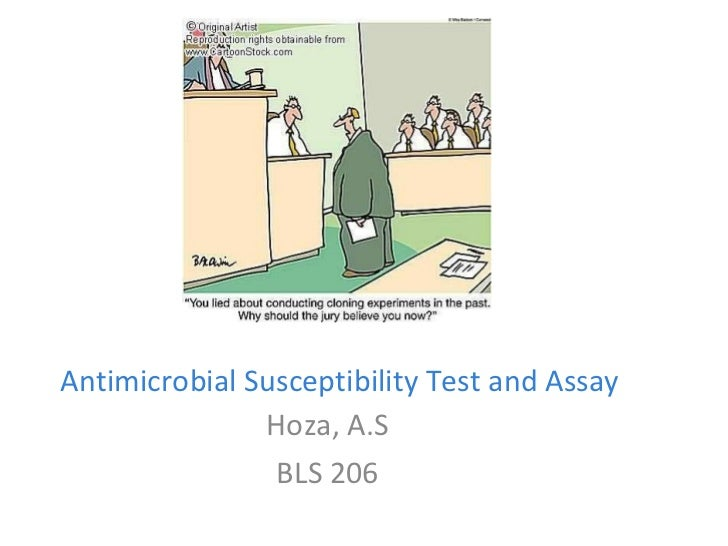 Antimicrobial Susceptibility Test and Assay Hoza, A.S BLS 206
