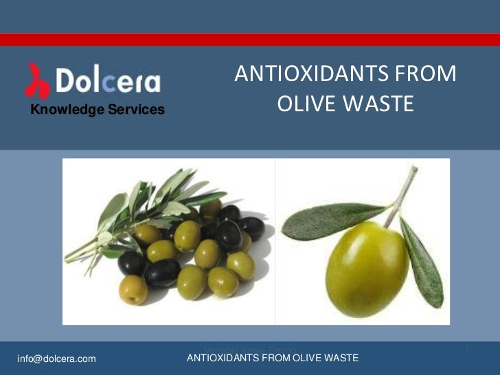 Antioxidants from olive waste - key players, innovators and industry analysis