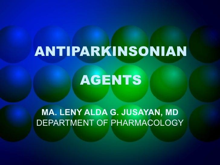 Antiparkinsons