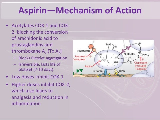 Aspirin Mechanism Of Action Pictures To Pin On Pinterest