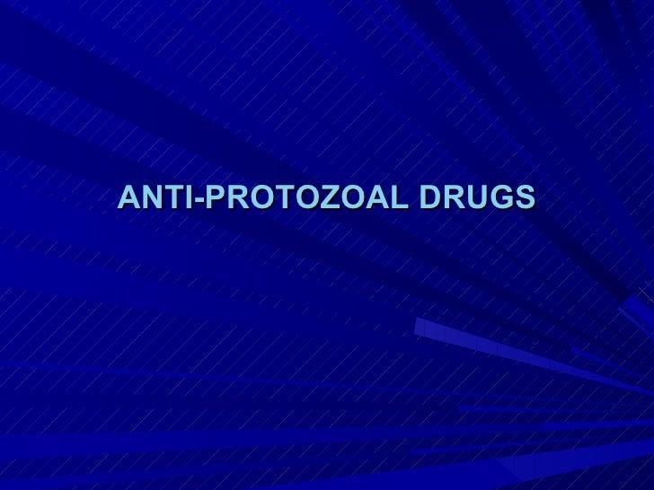 Antiprotozoal drugs pharmacology zirgham