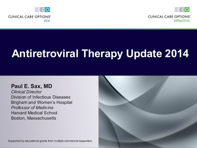 Antiretroviral Therapy Update 2014