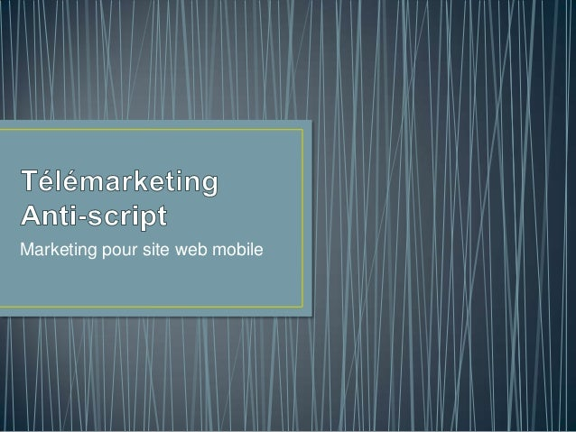 Marketing pour site web mobile