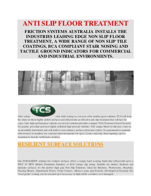 Anti Slip Floor Treatments : Anti slip floor treatment