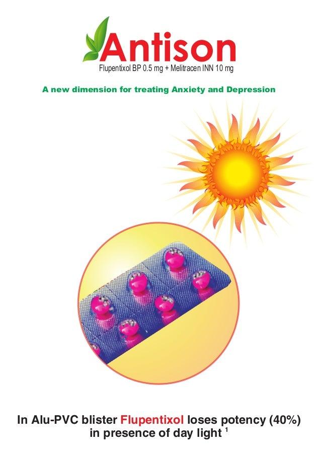 Flupentixol BP 0.5 mg + Melitracen INN 10 mgA new dimension for treating Anxiety and DepressionIn Alu-PVC blister Flupenti...