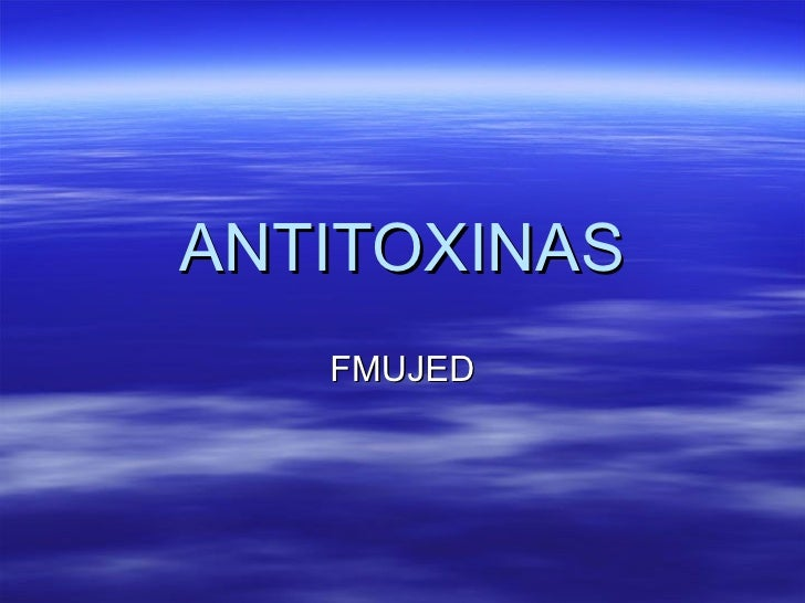 Antitoxinas