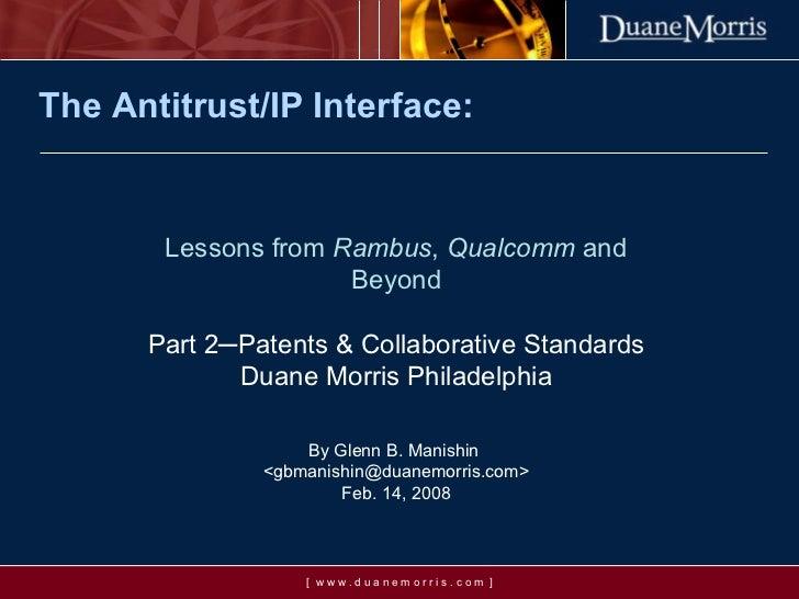 The Antitrust-IP Interface