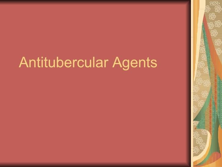 Antitubercular Agents