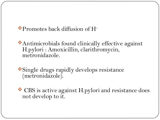 metronidazole plus amoxicillin