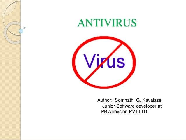 Antivirus - Virus detection and removal methods
