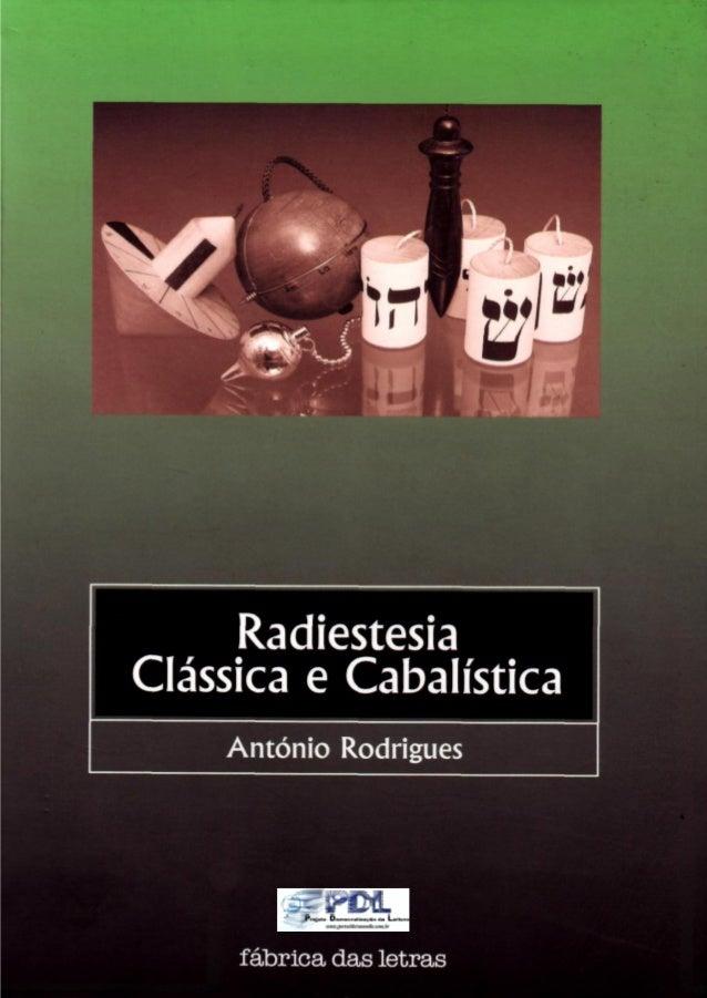 António rodrigues   radiestesia classica e cabalistica