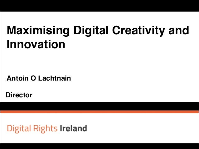 Antoin O Lachtnain at Creative Commons Ireland event