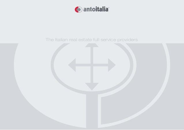 The Italian real estate full service providers