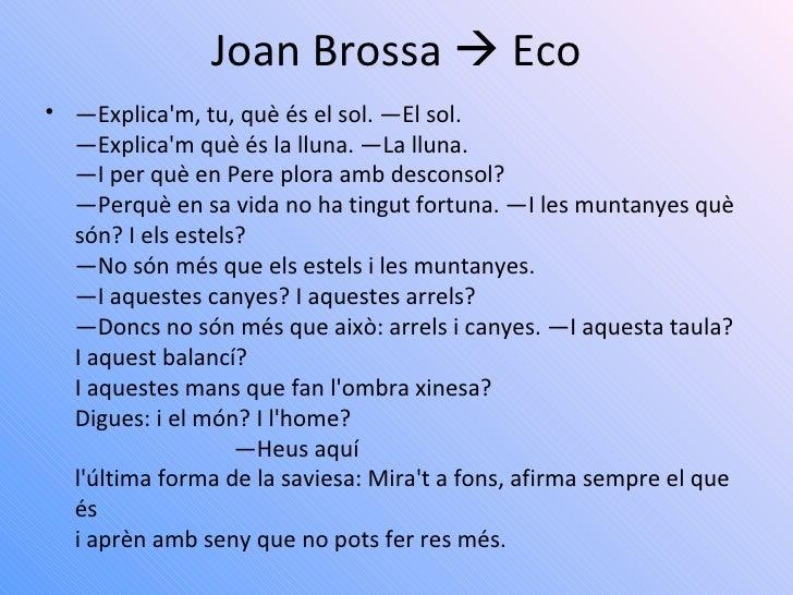 Joan Brossa eco