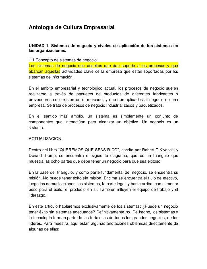 Antología de cultura empresarial
