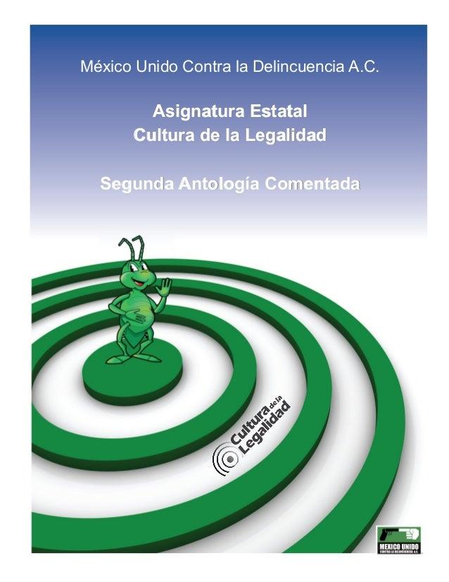 Antologia comentada 2013 - Asignatura Estatal
