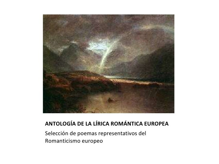 Antologia de la lírica romántica europea