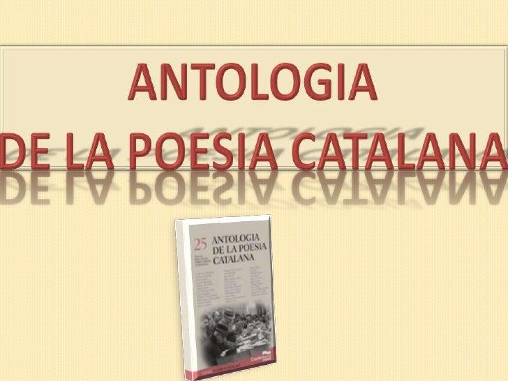 Antologia de la poesia catalana<br />