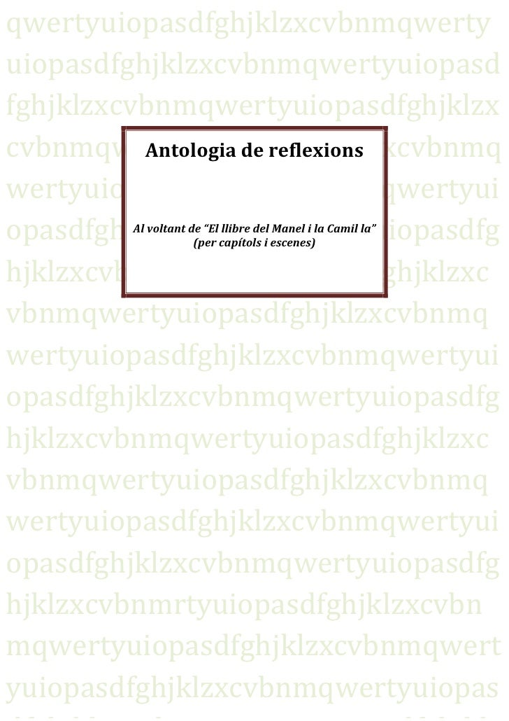 Antologia de reflexions